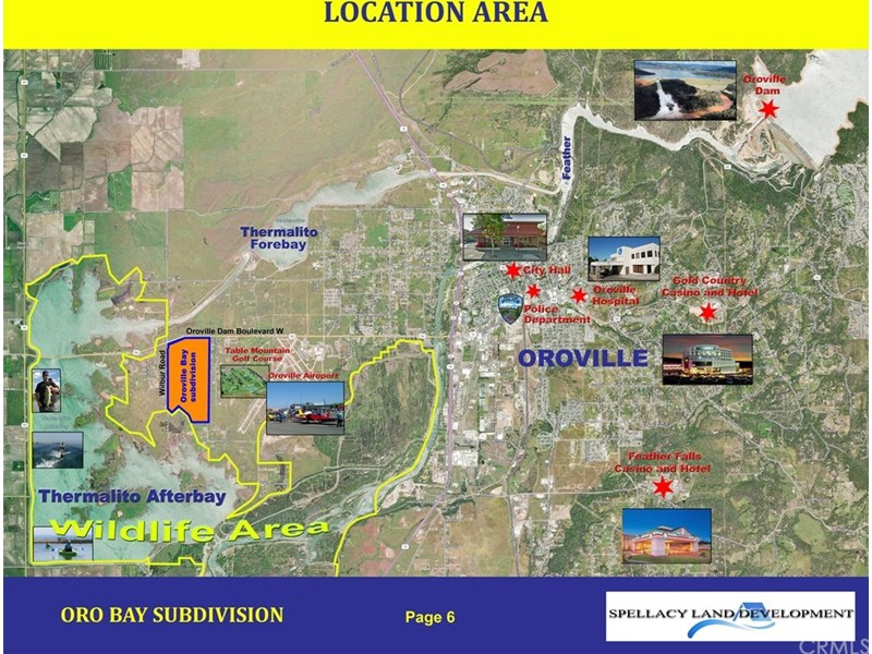 PROPERTY LOCATION ON THE OROVILLE, CA MAP