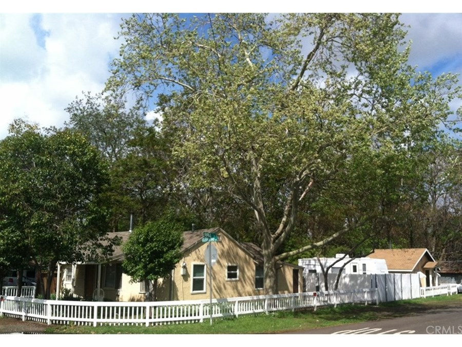 Corner lot with the 3 BR house & 2 bedroom house on side of RV area.