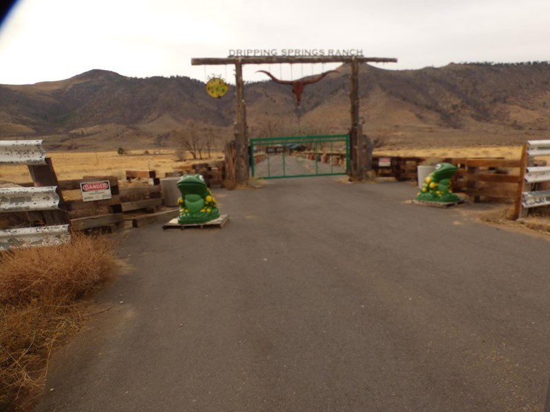 Entrance to ranch