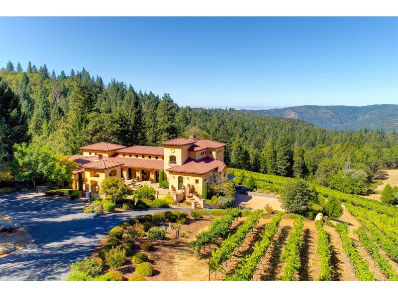 Stunning 20 acre vineyard estate in the heart of Apple Hill